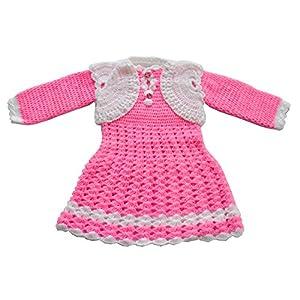 Apna Showroom Designer Baby Girl's Woolen Sweater Skirt Frock Dress (for 18-24 Months) (kvjjvkvj_Rose_227))