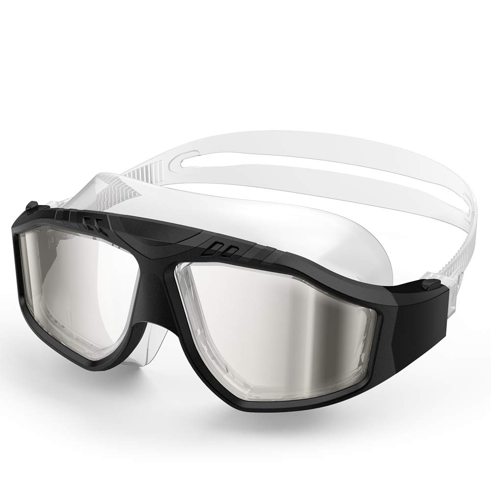OutdoorMaster Swim Mask – Wide View Swimming Mask & Goggles Anti-fog Waterproof