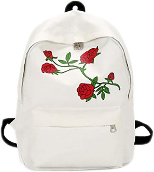 LMJZSA Mochila de Lona con Forma de corazón para Hombres Mochila para Mujeres Mochila Rosa Bordada Mochila para jóvenes Bolsa de Viaje para Mujeres