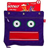 Googly Jumbo Pouch 3 Ring Binder Pencil and Pen Case - Purple by ZIPIT
