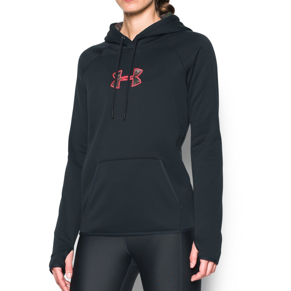 Under Armour Women's Icon Caliber Hoodie, Anthracite/Realtree Ap-Xtra, X-Small