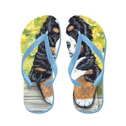 Cafepress Berner Hek Pup - Flip Flops, Grappige String Sandalen, Strand Sandalen Caribbean Blue