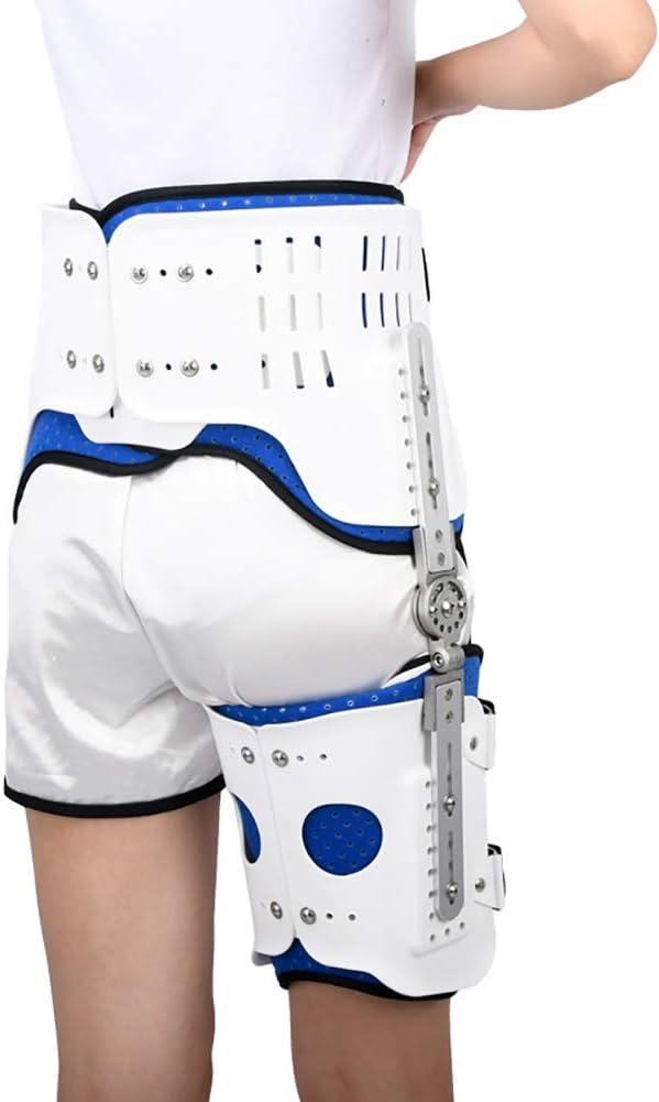 Estabilizador de cadera Corrector de apoyo de la ayuda de la cadera con bisagras para adultos Ortesis de Abducción de la cadera, la ingle, muslo, y el alivio del dolor del nervio ciático,right leg