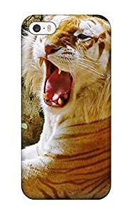 New Snap-on AmandaMichaelFazio Skin Case Cover Compatible With Iphone 5/5s- Golden Tiger