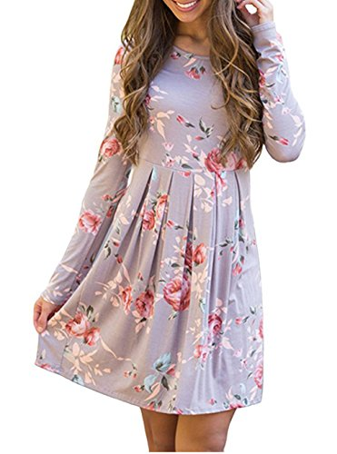 90s floral print dress - 9