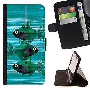 Pesca Significado Hook trullo profundo- Modelo colorido cuero de la carpeta del tirón del caso cubierta piel Holster Funda protecció Para Apple (5.5 inches!!!) iPhone 6+ Plus / 6S+ Plus