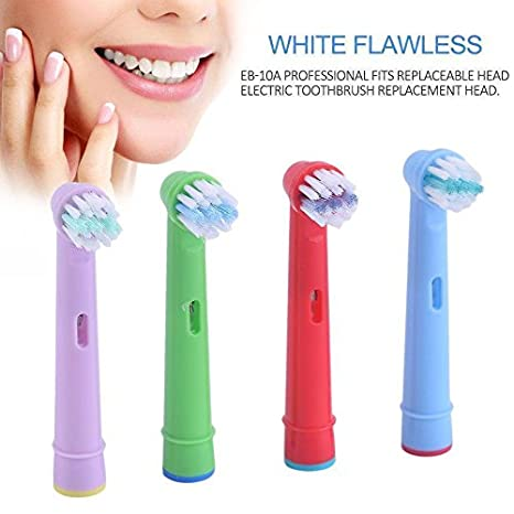 omagek - Cabezales para cepillo de dientes eléctrico eb-10 a Compatible con Braun/Oral-B (Pack de 4) Mixed colour Talla:4: Amazon.es: Bebé