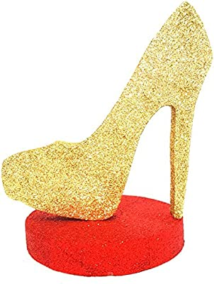 41e73b0f222 High Heel Centerpiece (Gold/Red)