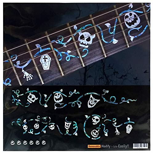 Halloween Ivy Vine with Skull Masks SET Fret Markers Inlay Stickers Decals for Guitar]()