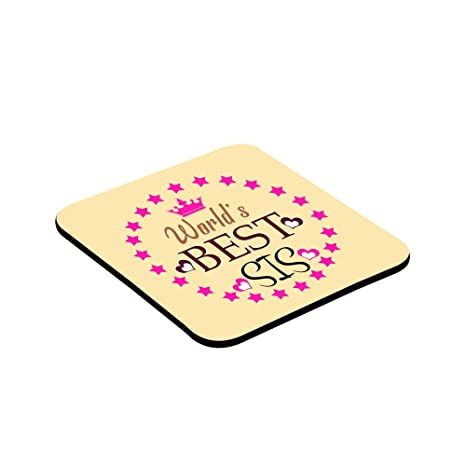 LOF Worlds Best Sis Sissy Sister Gifts For Birthday And Anniversary Printed Coaster