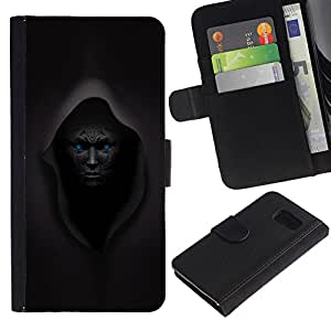 KingStore / Leather Etui en cuir / Samsung Galaxy S6 / Se?or Oscuro Overlord Negro Demon Monster