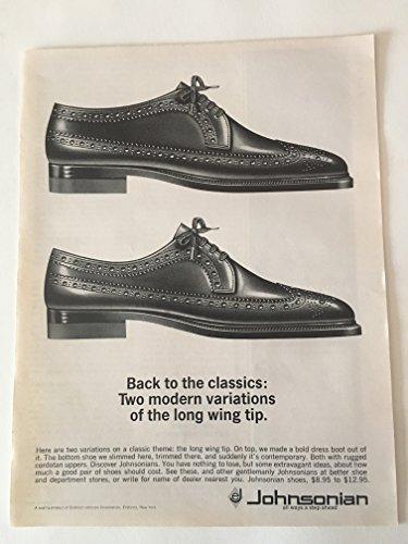 1963 Johnsonian Wing Tip Shoes Magazine Print (Print Wingtip)