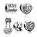 """Silver Plated Pugster """" Family Life"""" Love Spacer Bead Fit Pandora Charms Bracelet"""