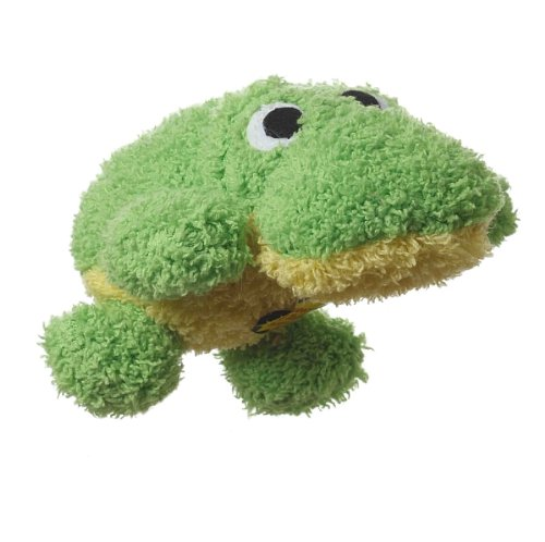 Multipet's Look Who's Washing Frog Talking Plush Dog Toy, My Pet Supplies
