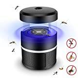 Bug Zapper, Electronic Mosquito Killer, USB Powered Insect Trap Lamp, LED UV Light Insect Killer Fly Catcher Pest Control for Indoor and Outdoor Camping - Black