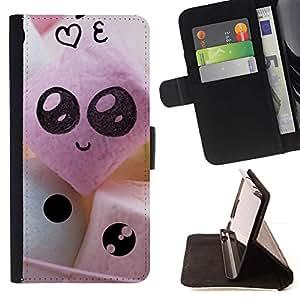 For LG Nexus 5 D820 D821 Case , Caras lindas divertidas- la tarjeta de Crédito Slots PU Funda de cuero Monedero caso cubierta de piel
