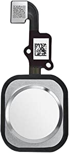 Afeax Compatible with Home Button Main Key Flex Cable Replacement for iPhone 6S and 6S Plus (Silver)
