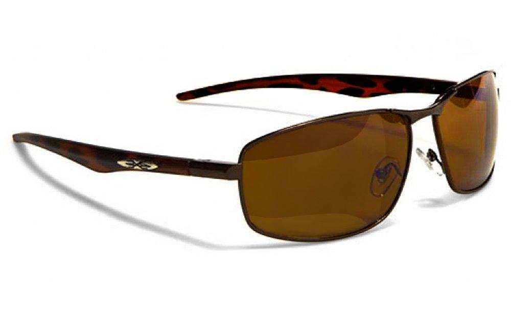 X-Loop Lunettes de Soleil Aviator - Mode - Fashion - Conduite - Moto - Ski - Tennis - Conduite - Plage / Mod. 042P Cuivre Brun Xloop X042PG