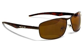 X-Loop Lunettes de Soleil Aviator - Mode - Fashion - Conduite - Moto - Ski - Tennis - Conduite - Plage / Mod. 042P Cuivre Brun jtUQnuBFC8