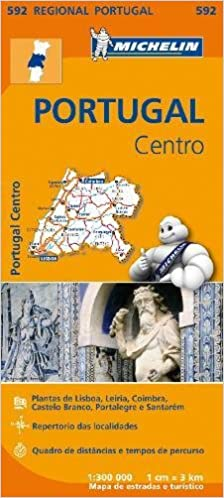 mapa michelin portugal 2014 Portugal Centro   Michelin Regional Map 592 (Michelin Regional  mapa michelin portugal 2014