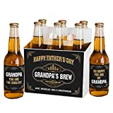 GiftsForYouNow Fathers Day Brew Personalized Beer Labels and Carrier Set