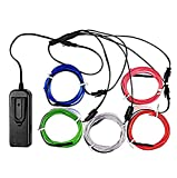 ESUMIC Electroluminescent Wire (EL Wire) Splitter 5 X 1 Metres Glowing Strobing Neon Light Set (Multi-colored)