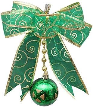 Blue MILISTEN 5pcs Christmas Ribbon Bows Large Christmas Tree Bowknot Hanging Pendant Decoration for Xmas Tree Wreaths Gift Boxes
