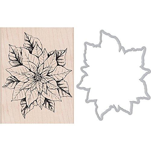Hero Arts Poinsettia Wood Mounted Stamp & Die Combo Set (SB116)