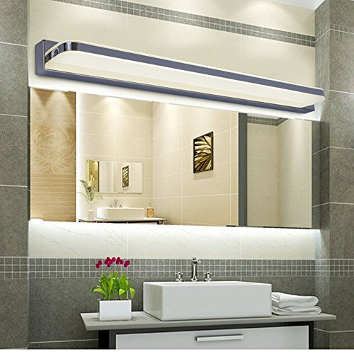 1X LED Spiegellampe 2835 SMD 35 LEDs 7W 770 lumen Schranklampe Wandleuchte Kaltweiß (180 ° Edelstahl Badezimmer 90-265V)