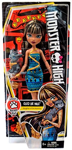 Monster High Ghoul's Beast Pet Cleo De Nile Doll -
