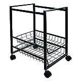 Advantus Mobile File Cart with 2 Sliding Baskets, 19.5 x 16 x 13 Inches, Black (34075)
