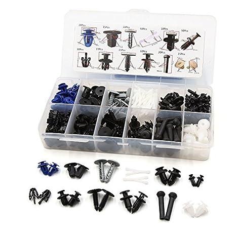 eDealMax 260 piezas DE 12 Clips de plástico tipo Sujetador del detenedor de parachoques Protector Contra