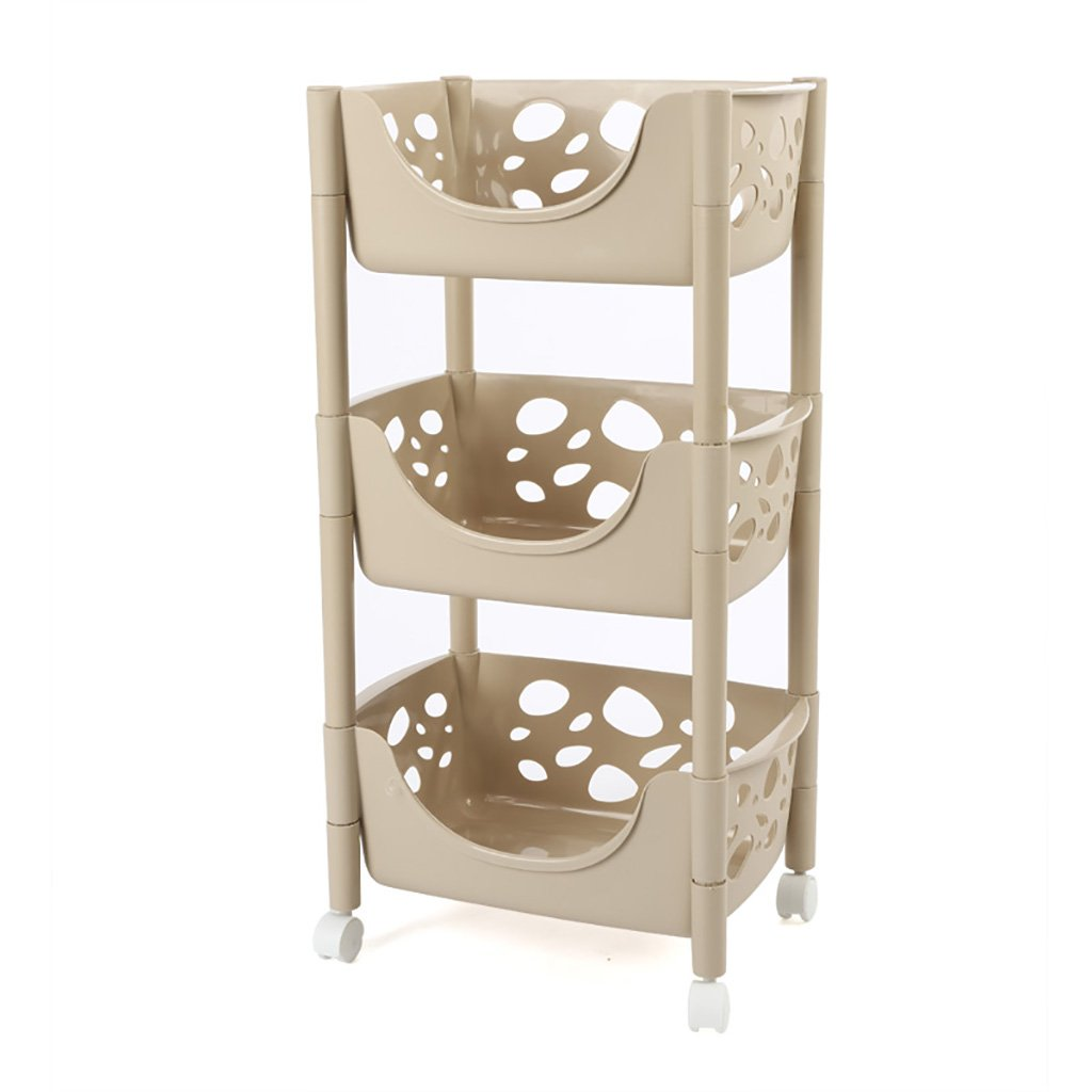 C Kitchen Storage Trolleys Slide Out Storage Tower Movable Detachable Shelf with Wheels 3 Tier for Kitchen Bathroom Living Room (color   A)