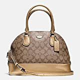 Coach Signature Cora Domed Satchel Purse - #F33904