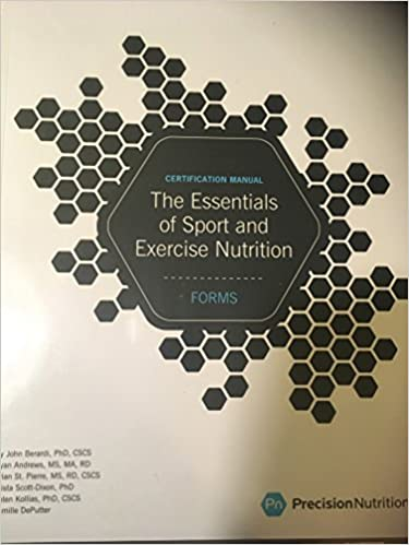 The Essentials of Sport and Exercise Nutrition Certification