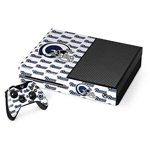 Skinit NFL Los Angeles Rams Xbox One Console and Controller Bundle Skin - Los Angeles Rams White Logo Blast Design - Ultra Thin, Lightweight Vinyl Decal Protection by Skinit
