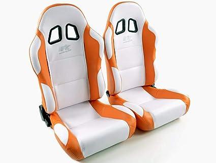 Par de asientos deportivos ergonómicos de cuero artificial ...