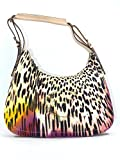 Shoulder bag JUST CAVALLI in leather and printed fabric
