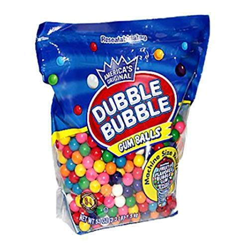 Dubble Bubble Machine Size Gum Ball Refills, 3.3 Lbs (Assorted Color Gumballs)