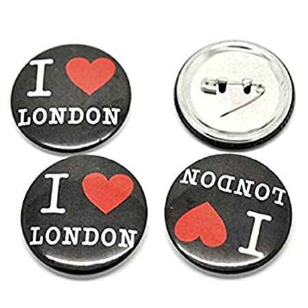 Libby's Market Place Set of 5 ' I Love London ' Black Pin Button Badges 51TY0q 2BFKYL