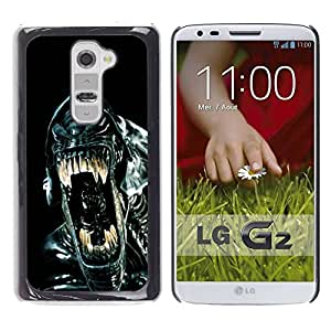 Paccase / SLIM PC / Aliminium Casa Carcasa Funda Case Cover para - Sci-Fi Movie Black Alien Ufo - LG G2 D800 D802 D802TA D803 VS980 LS980