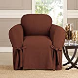 kashi 35 - Microsuede Furniture Slipcover Chair 70 x 90 - Brown