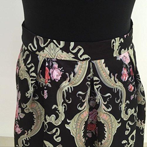 Au Robe Imprime Midi Femme Floral YOUJIA Jupes Pliss Genou pour Jupes Courtes Vintage 4a4KB8qEw
