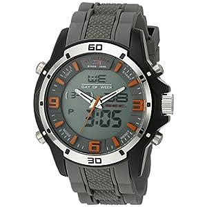 U.S. Polo Assn. Sport Men's Quartz Metal and Rubber Casual Watch, Color:Grey (Model: US9536)
