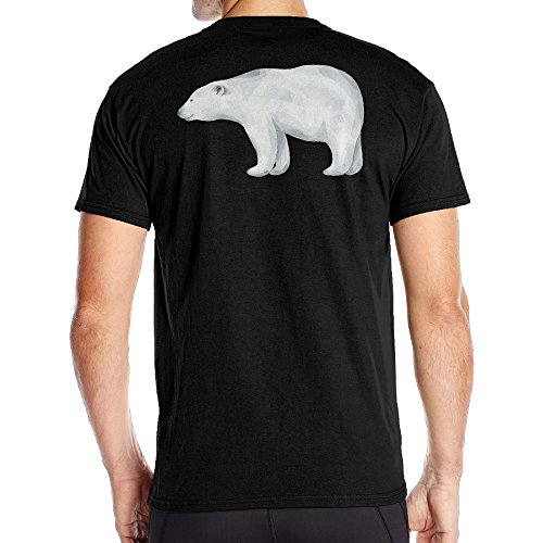 Aoaoozu8 Men Cute Polar Bear Vintage Tshirt Black Size - Premium Cincinnati Outlet