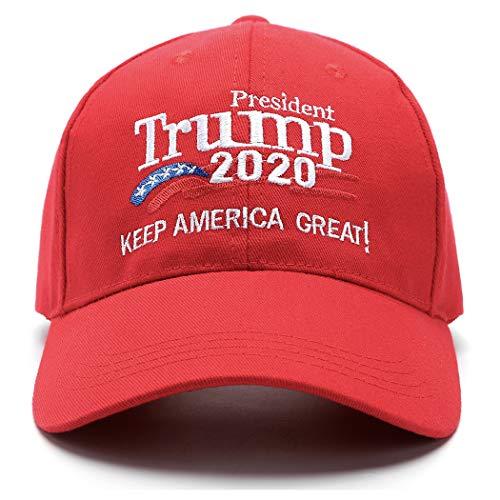 Make America Great Again Hat Donald Trump 2020 USA Cap Keep America Great (Red-3)