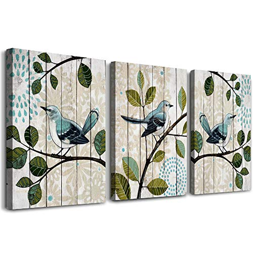 """bird on the branch 3 Piece abstract Canvas Wall Art for living room Wall Decor for bedroom kitchen decorations abstract posters Canvas Prints artwork Modern framed bathroom Home decoration 12"""" x 16"""""""