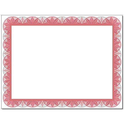 Red Spiral Laser & Inkjet Certificate Border Paper, 100 pack ()