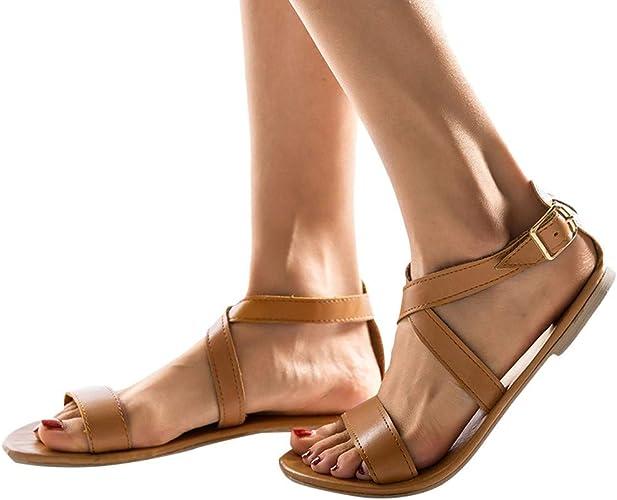 Sandales cuir, sandales, nu pieds femmes, chaussures cuir