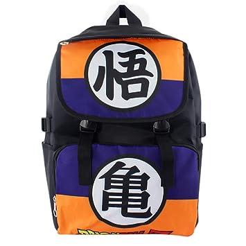 Mochila Escolar de Lona Dragon Ball Z Mochila Son Goku 45x30x16cm